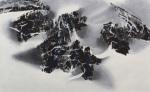 LKS-P307 空岩.幽石.霧起 2016 木刻水印 60 x 98 cm