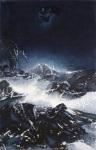 LKS-P310 夜靜雪山空 2016 木刻水印 152 x 100 cm